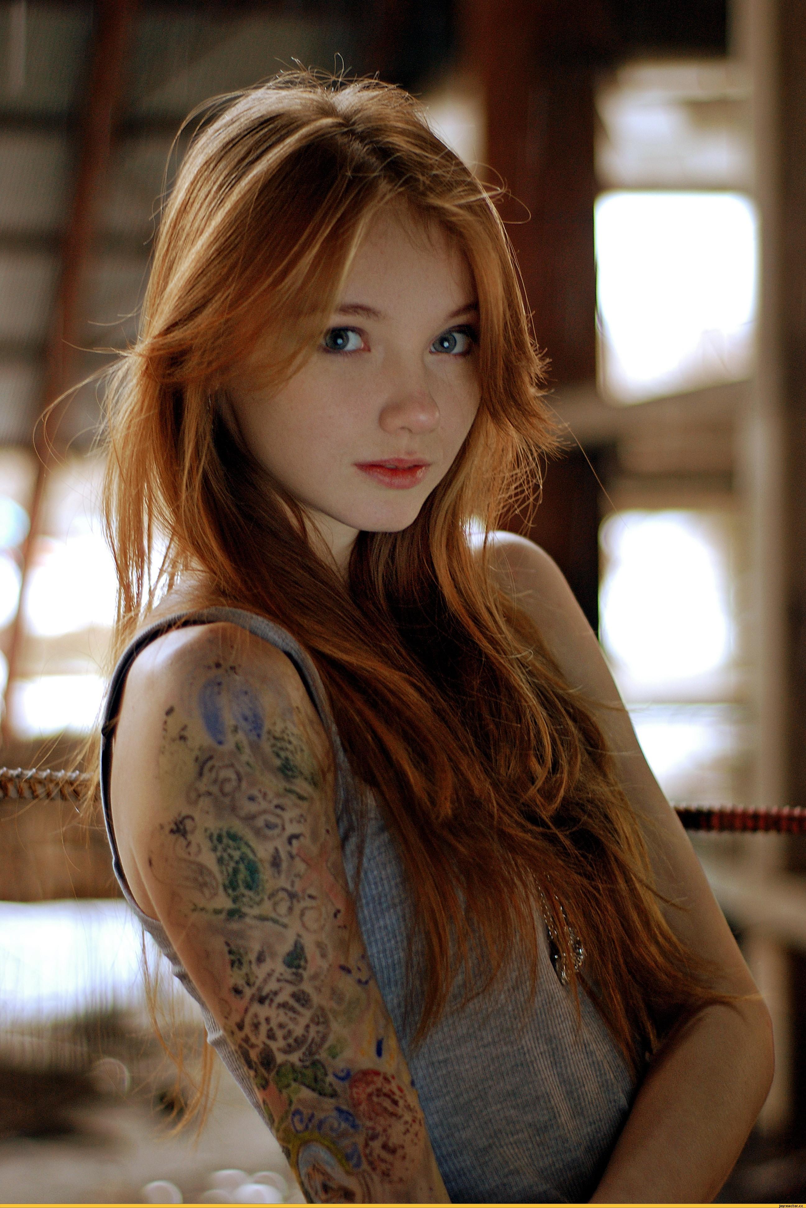 Фото красивая рыжеволосая девушка 6 фотография