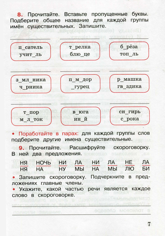 Сканы русский язык 3 класс