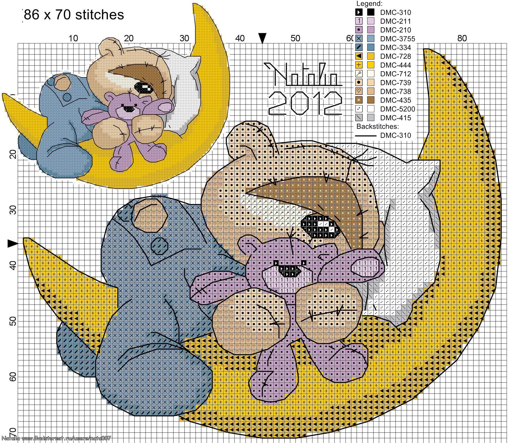 Вышивка для детей мишка