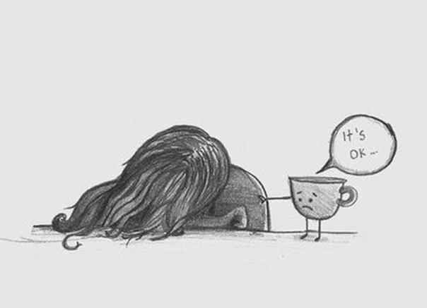 Депрессивный рисунок карандашом