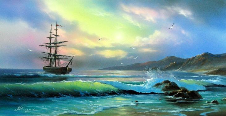 Дрожало море вечной дрожью