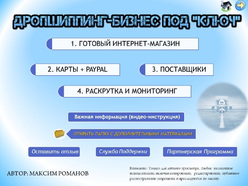 Дропшиппинг - Бизнес под Ключ (Максим Романов) | [Infoclub.PRO]