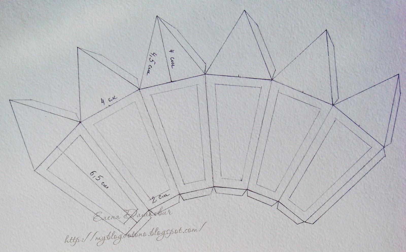 Как сделать бумажный фонарик схема