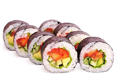 Роллы с овощами