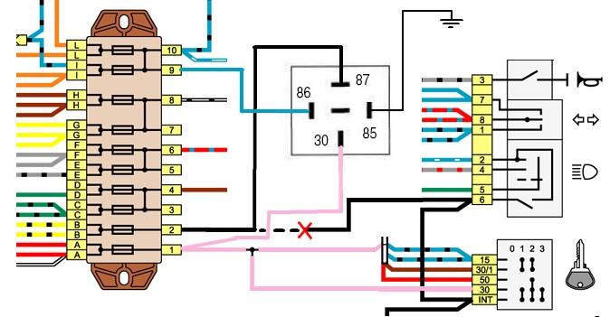 Схема контактной группы замка зажигания опель вектра а