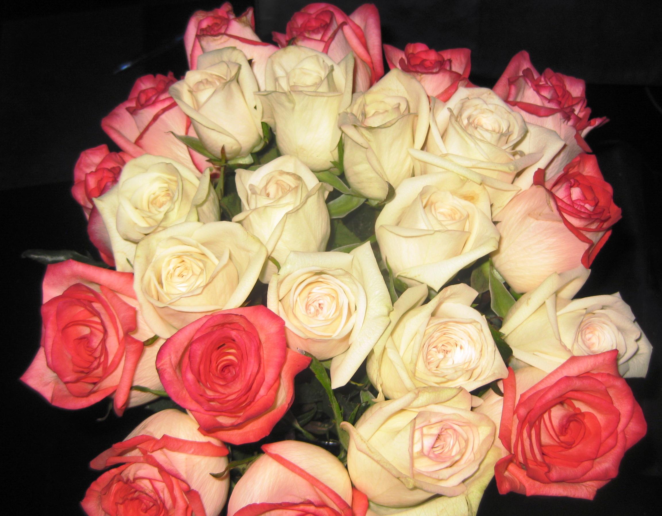 Фото цветы розы букеты большие