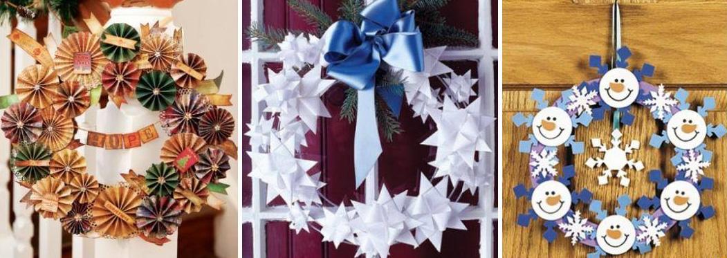 Украшения к новому году своими руками из бумаги на окна