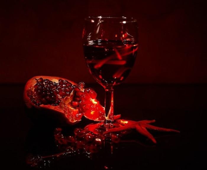 Поздравления женщине про вино