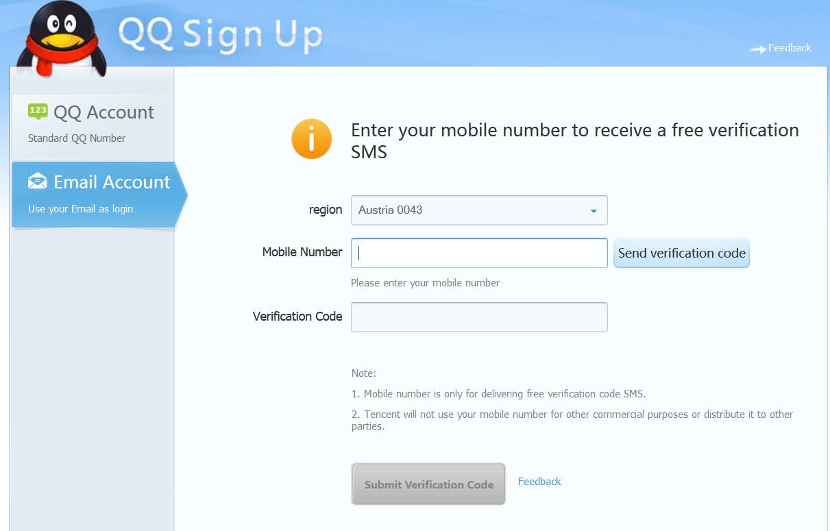 Регистрация аккаунта QQ 8c53f45e84f2880c447282958ea3ec33