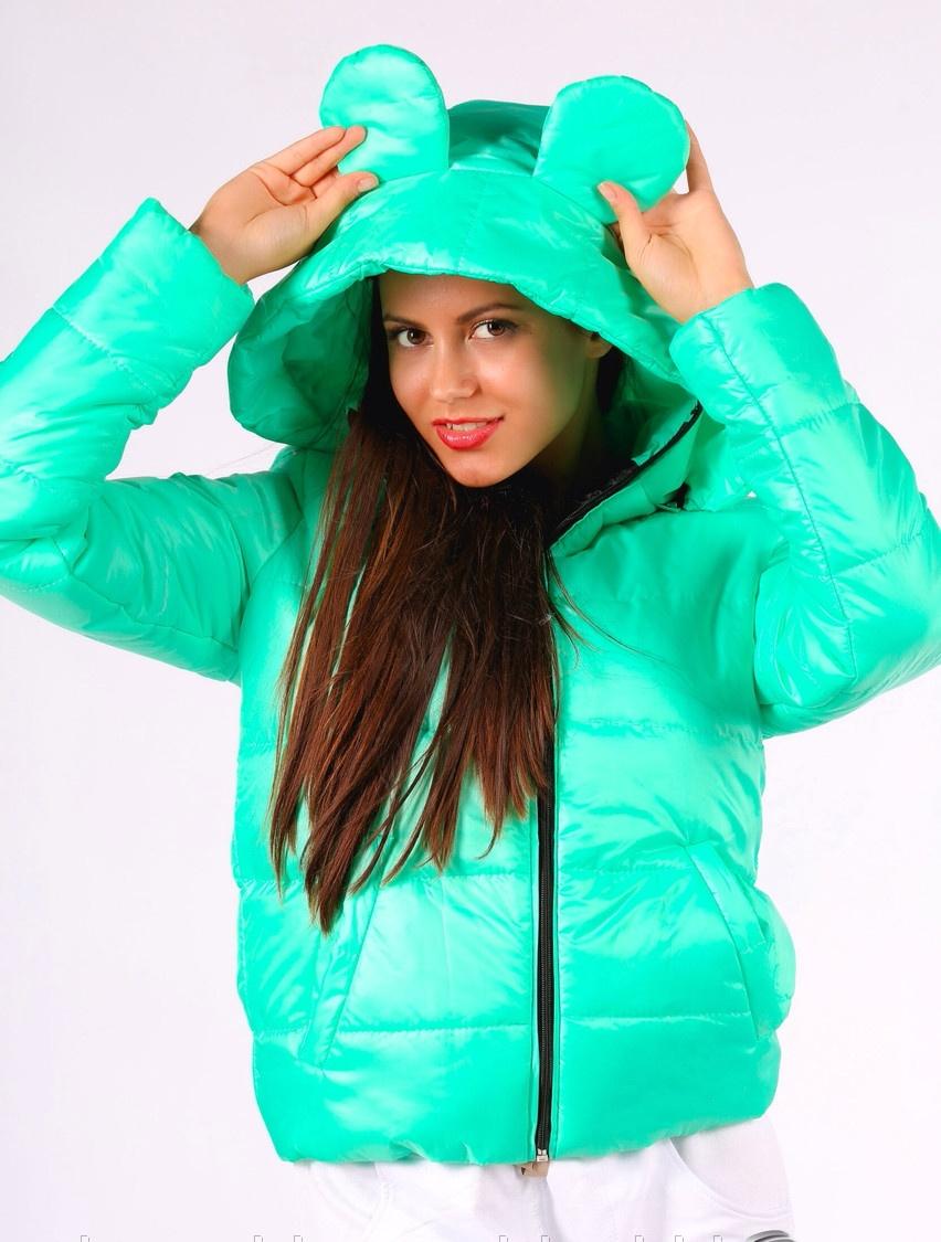 Куртки с ушками женские