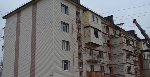 Ремонт аварийного дома будет завершен в феврале