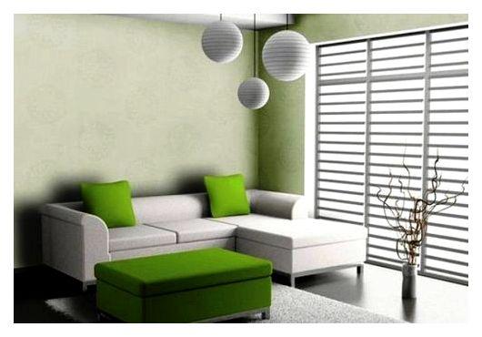 стеклообои в интерьере гостиной