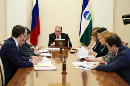 Глава КБР Ю.А.Коков провел рабочее совещание с руководством Правительства республики