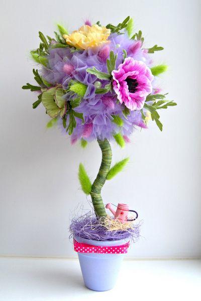 Дерево из цветов своими руками мастер класс пошагово
