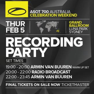 Armin van Buuren - A State Of Trance 700 - Live Luna Park in Sydney, Australia