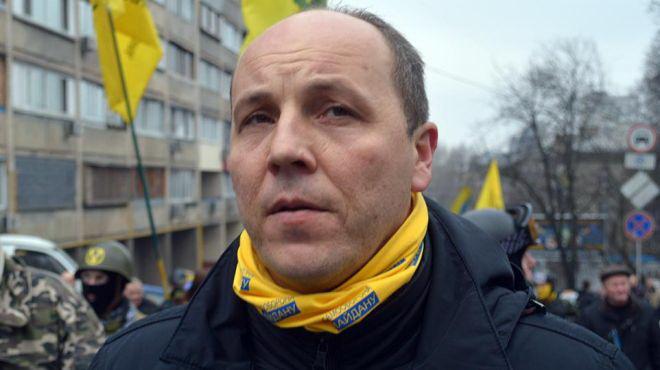 Андрей Парубий - участник Евромайдана