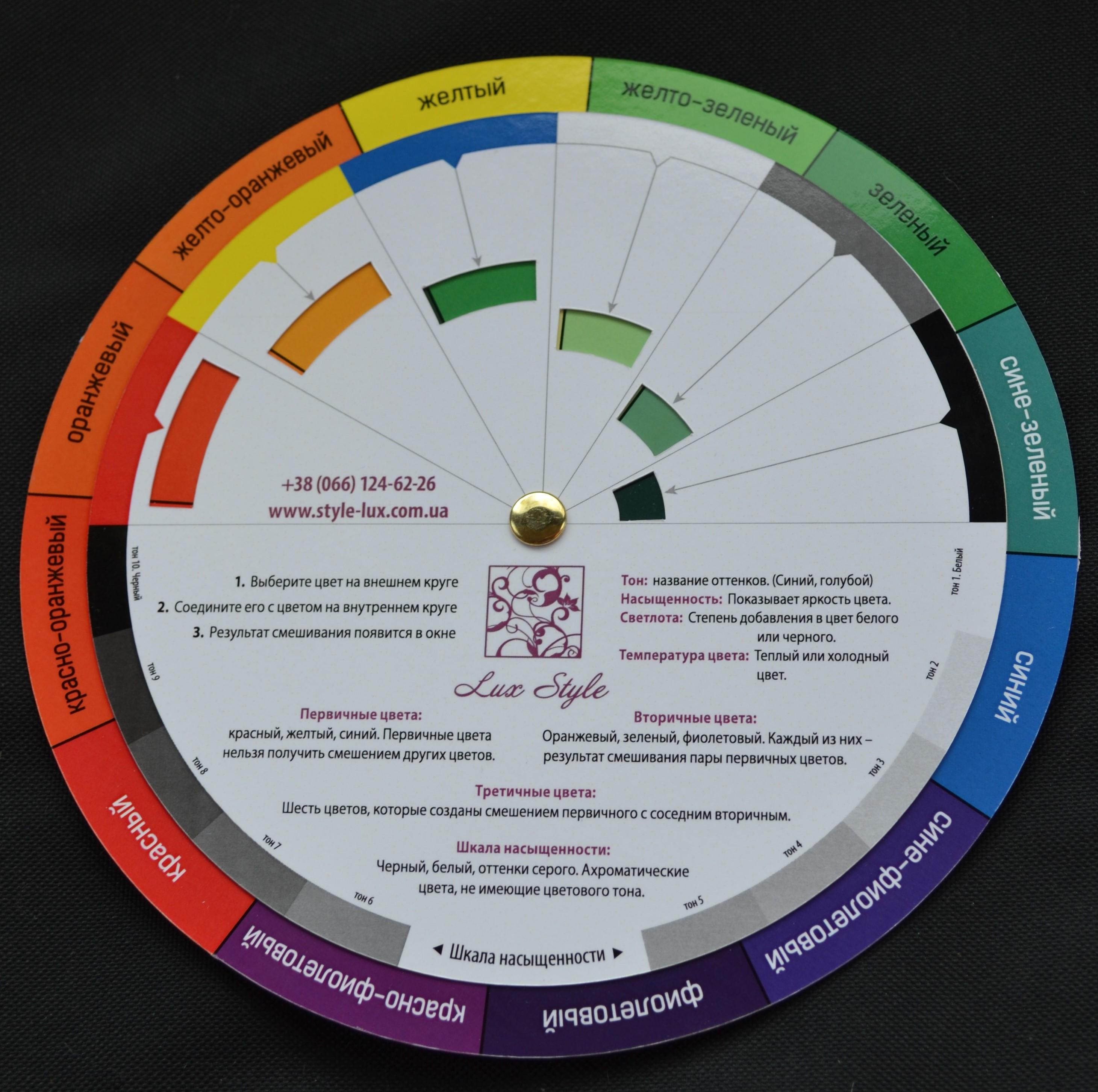 Цветовой круг своими руками шаблоны