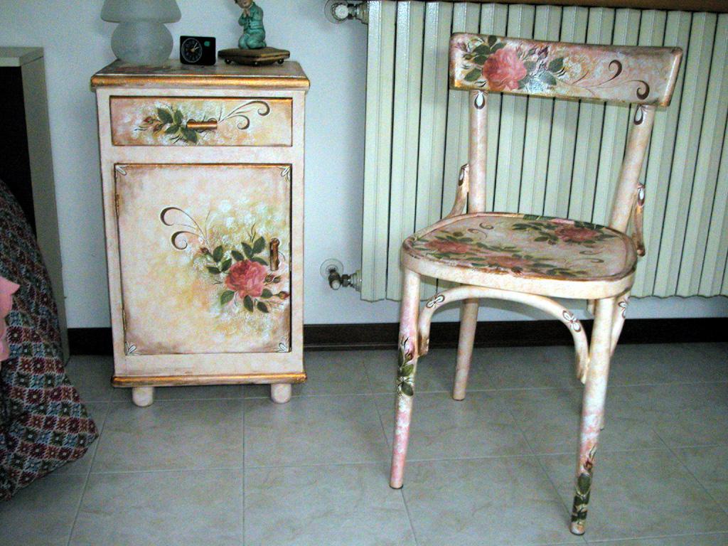 Декупаж старой мебели своими руками фото