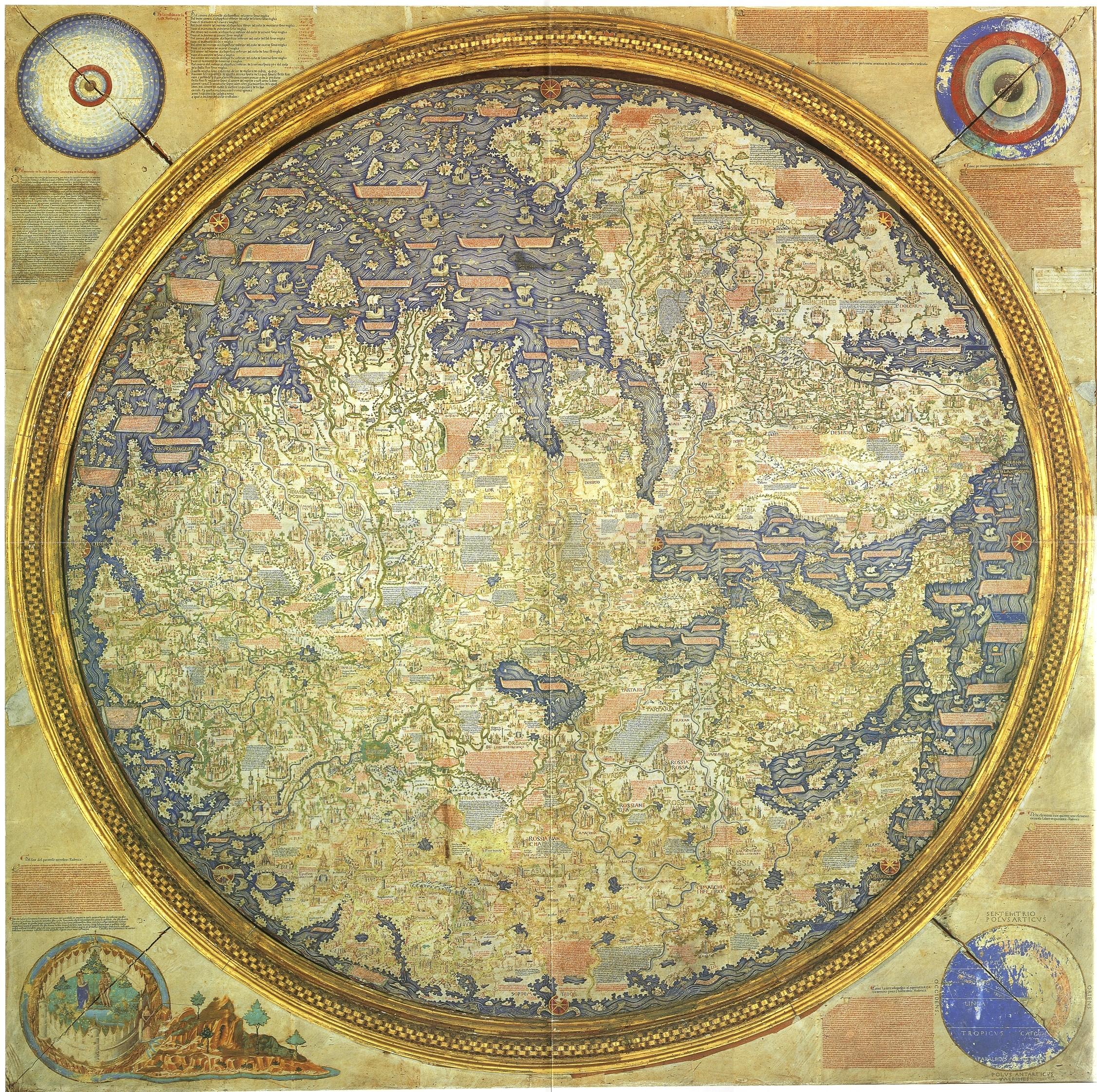 Эдем на карте Фра Мауро