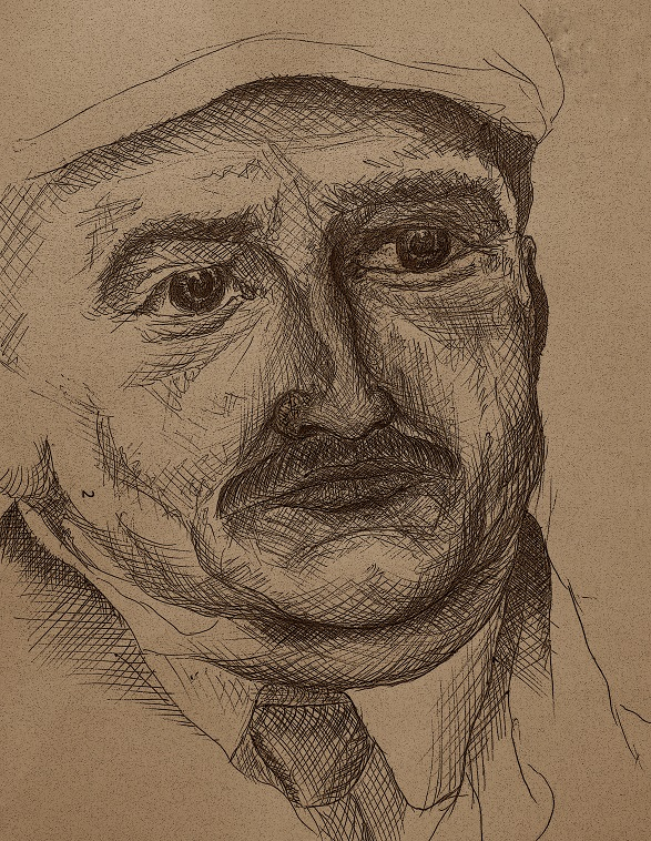 Портрет Азефа (Иллюстрация к творчеству Савинкова)