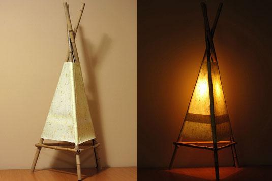 бумажная лампа