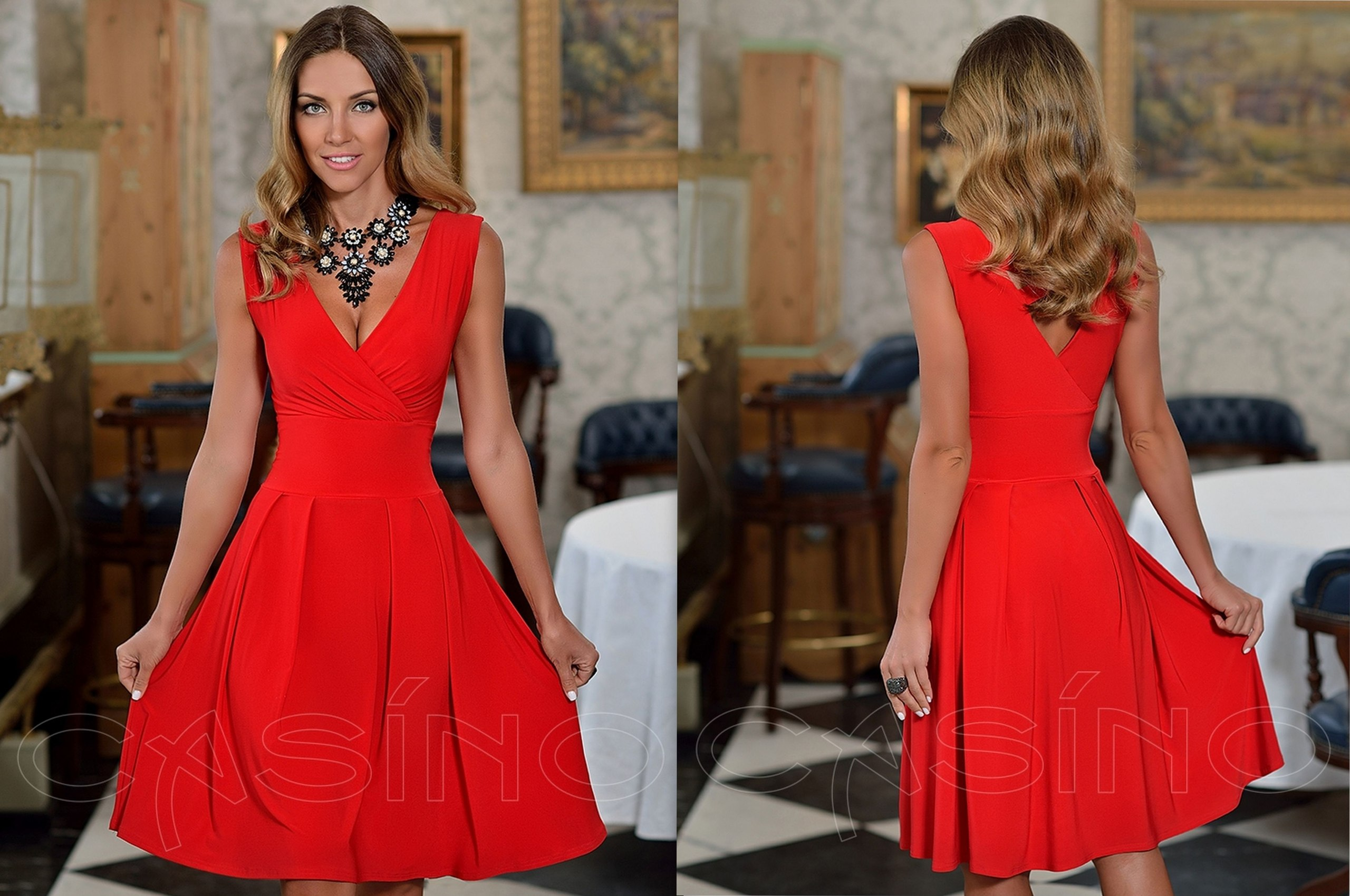 Платье Казино Красное