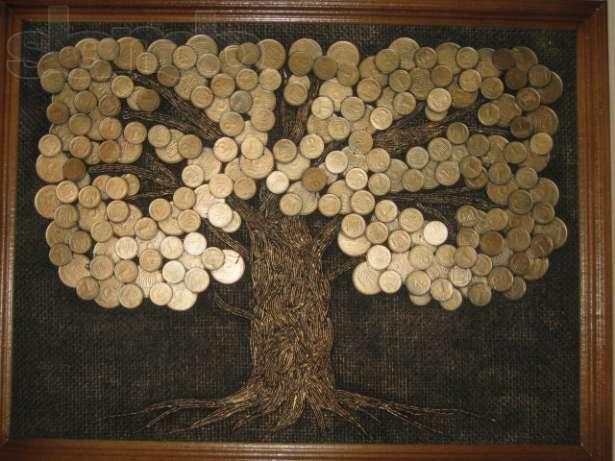 Как сделать денежное дерево своими руками из монеток