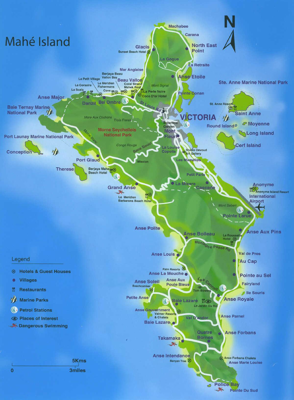 Острова зелёных черепашек - Mahé