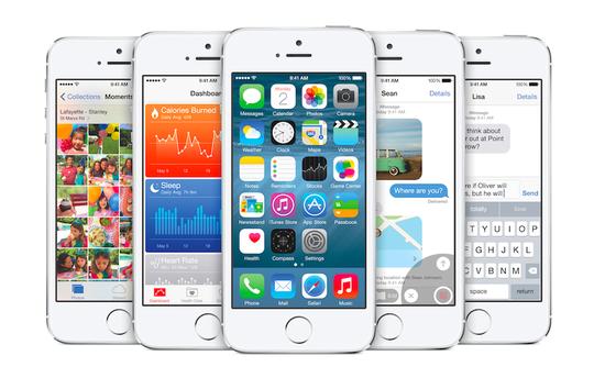 iOS 8 для iPhone 5s