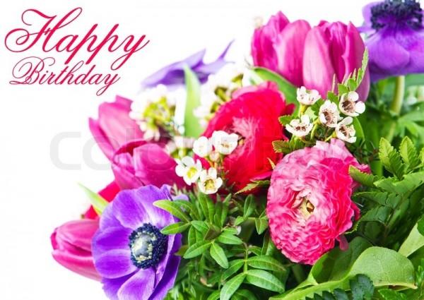 Открытки happy birthday женщине красивые английские с цветами 75