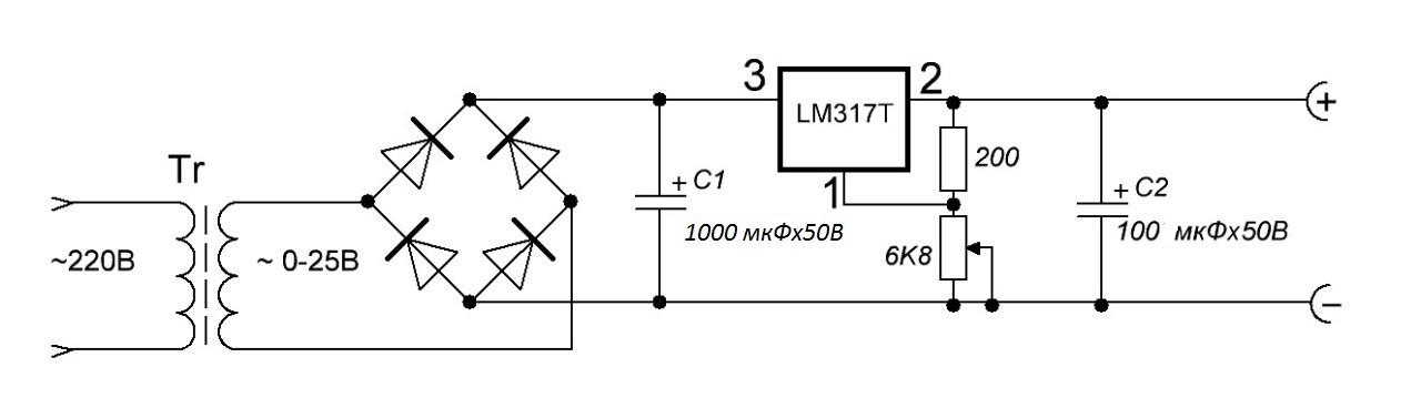 Регулятор напряжения на lm317
