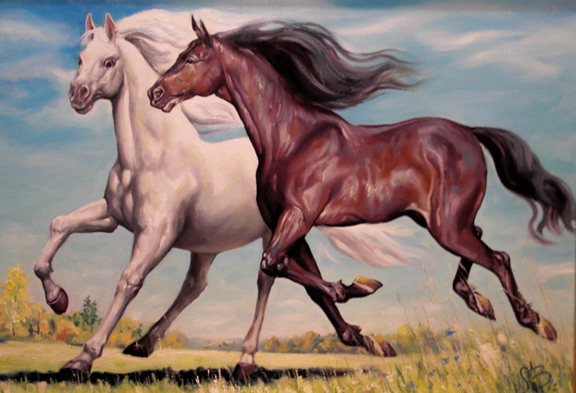 Смешные картинки, картинки с тройками лошадей роспись красивые
