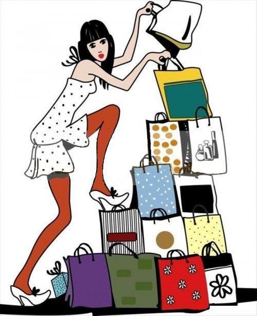 Женщина с сумками прикольные картинки, подвижными