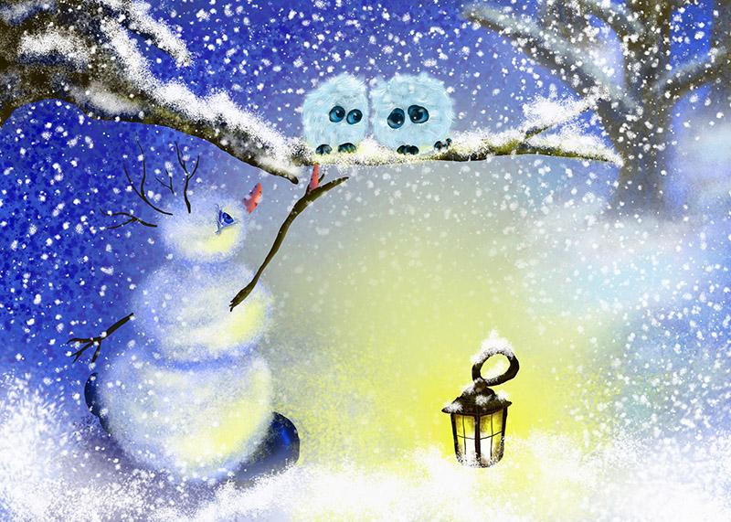 Картинки снег нарисованные