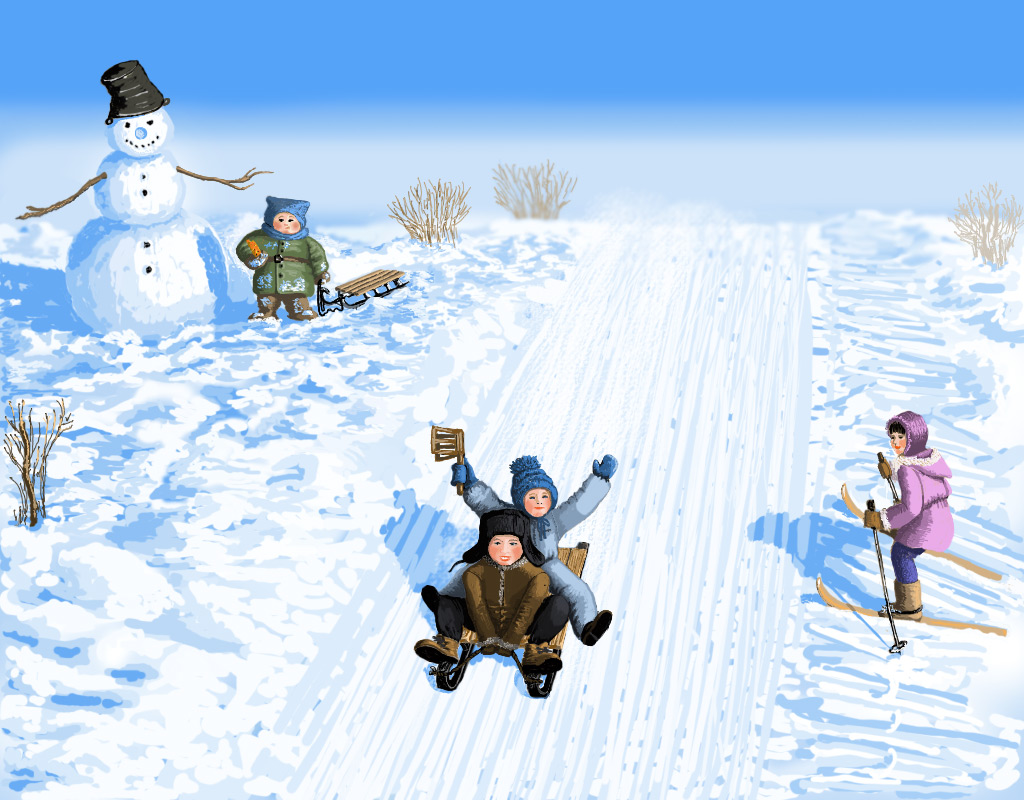 Зимние забавы игры в картинках
