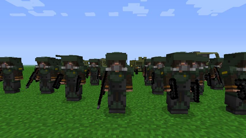 армия в майнкрафт без модов #1