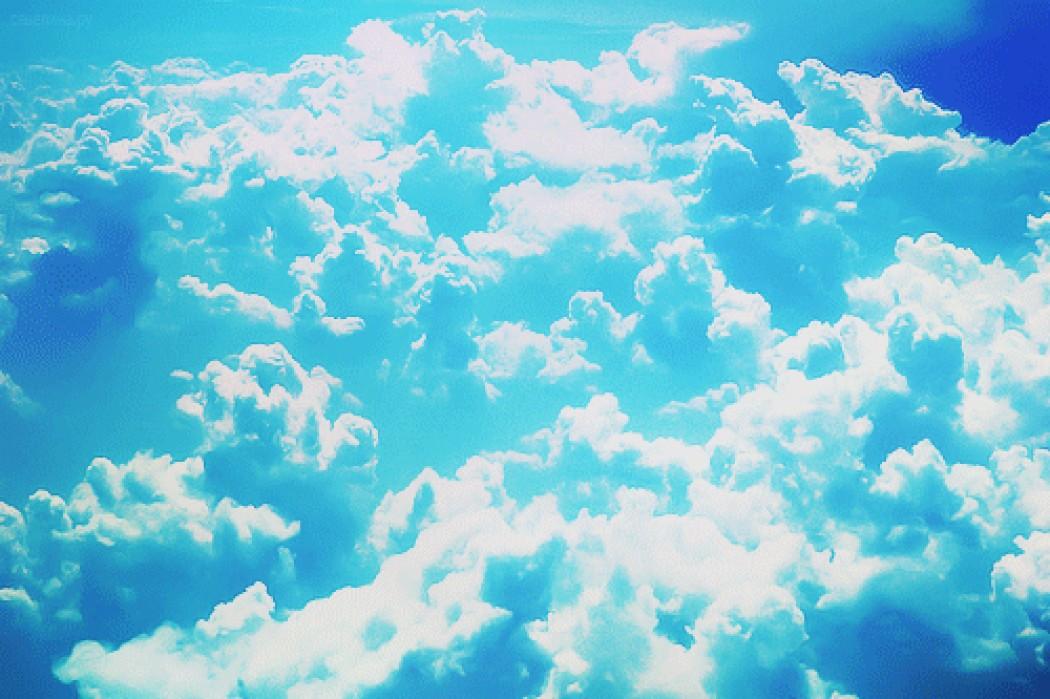 гиф облака плывут них было