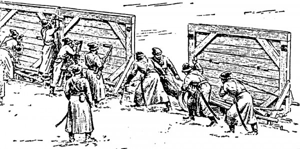 streltzi pulling sled mounted sections of the gulai gorod into place and locking them together.jpg