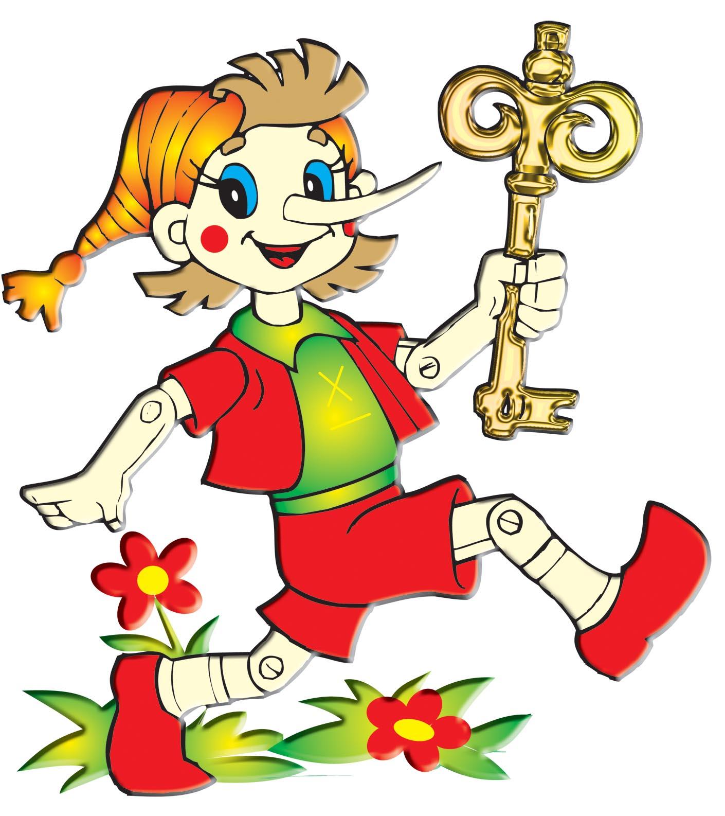 Рисунок из сказки буратино и золотой ключик