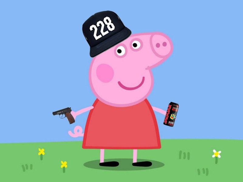 Крутые картинки свинка пеппа, открытка новому 2017